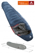 Vaude Schlafsack Kiowa 900 left -1/+14/+11 dark blue