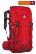 Vaude Rucksack Basic Rock 34+6 Liter - Red/Dark Red