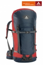 Vaude Rucksack Rock 45+10 Liter - Dark Blue/Red