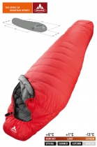 Vaude Schlafsack Featherlight 350 left +6/+1/-13 - red